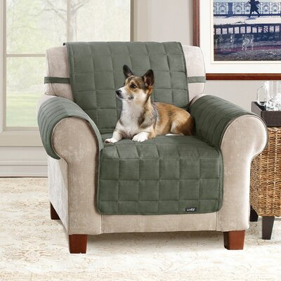 Sure-Fit Soft Suede Pet Chair Cover