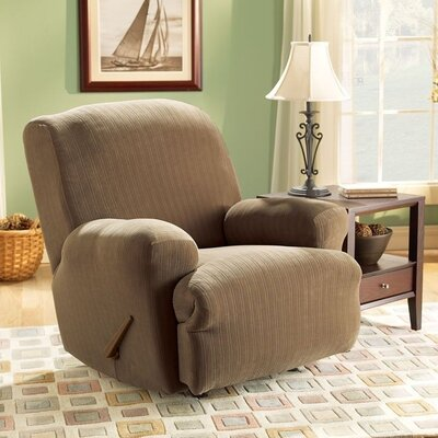 Stretch Pinstripe Recliner Slipcover