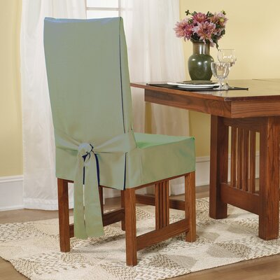 Cotton Duck Shorty Dining Chair Slipcover