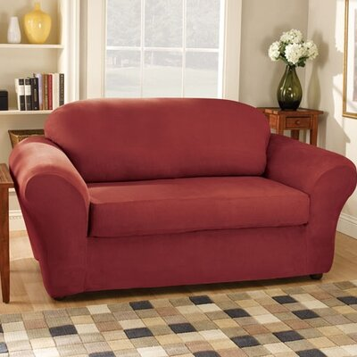 Sure-Fit Stretch Suede Separate Seat Sofa Slipcover