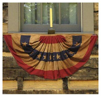 Valley Forge Flag Heritage Antiqued Patriotic Pleated Flag