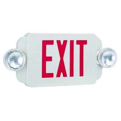 Royal Pacific Exit/Emergency Combo Light in Red