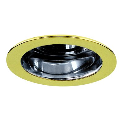 "Royal Pacific 3"" Reflector Trim for Recessed Housing with Polished Brass Ring in Clear"