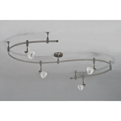 royal pacific 4 light flexible glass head track lighting kit reviews. Black Bedroom Furniture Sets. Home Design Ideas