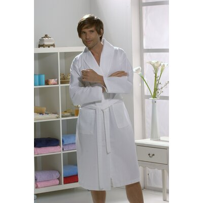Linum Home Textiles 100% Turkish Cotton Unisex Waffle Weave Bathrobe