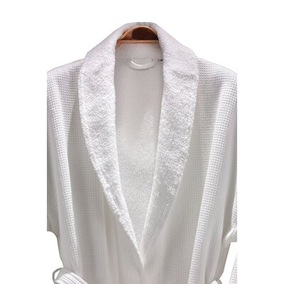 Linum Home Textiles 100% Turkish Cotton Unisex Waffle Weave Terry Bathrobe