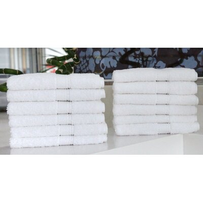 Linum Home Textiles Luxury Hotel & Spa 100% Turkish Cotton Wash Cloth (Set of 12)