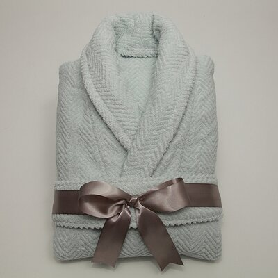 Linum Home Textiles Luxury Hotel & Spa Collection Herringbone Weave 100% Turkish Cotton Unisex Bathrobe