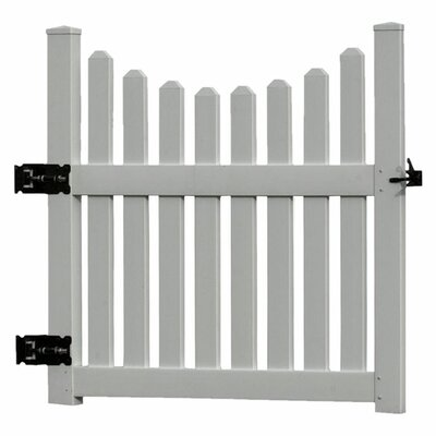 New England Arbors Cottage Picket Gate in White