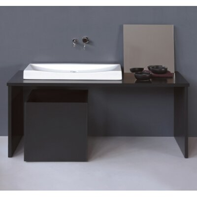 Moda Collection Crescent Vessel Sink in White