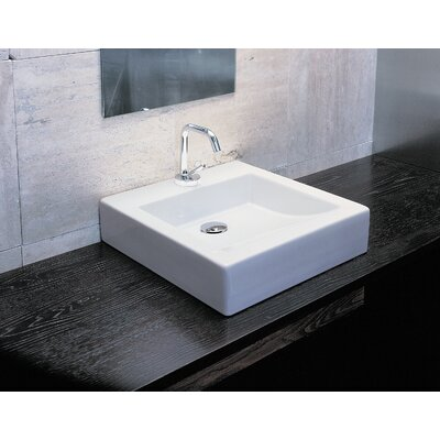 Moda Collection Domino Vessel Sink in White