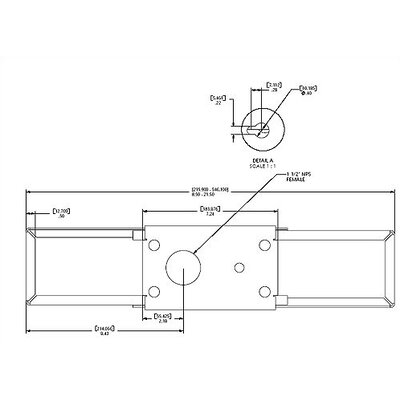 "Chief Manufacturing Internal Joist Mount - 1 1/2"" NPT"