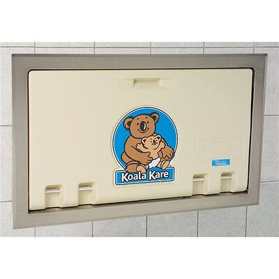 Koala Kare Products Horizontal Changing Station with Stainless Steel Flange Recess Mount