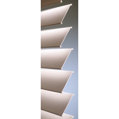 "Fauxwood Impressions Insulation Blind in White - 78"" H"