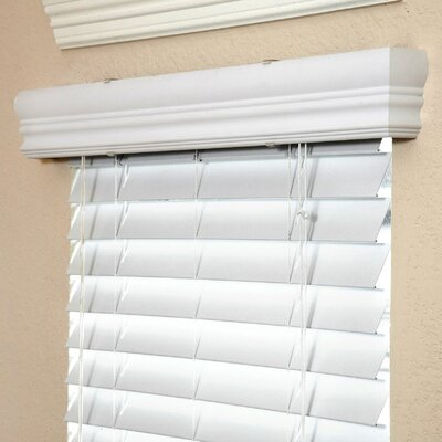 """Fauxwood Impressions Insulation Blind in White - 84"""" H"""