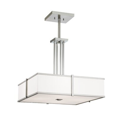 ILEX Lighting Hatbox Square Pendant with Quad Stem