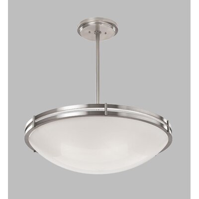 ILEX Lighting Hanover Bowl Pendant with Triple Stem