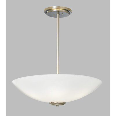 ILEX Lighting Miro Bowl Pendant with Triple Stem