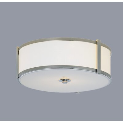 "ILEX Lighting Hatbox 16"" Round Flush Mount"