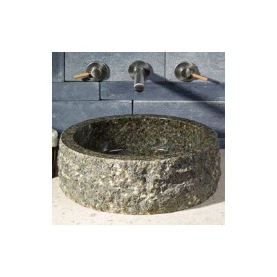 Circular Vessel Bathroom Sink with Broken Edge - V-VGR16-BE-Café Blanc