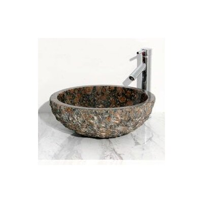 Round Vessel Bathroom Sink with Broken Edge - V-VR166-BE
