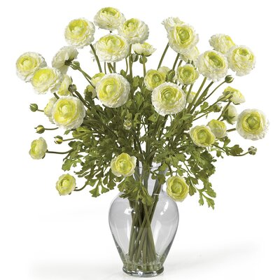 Liquid Illusion Silk Ranunculus Arrangement in Cream