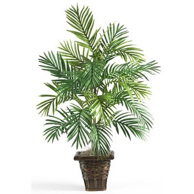 Nearly Natural Silk Areca Palm Floor Plant in Pot