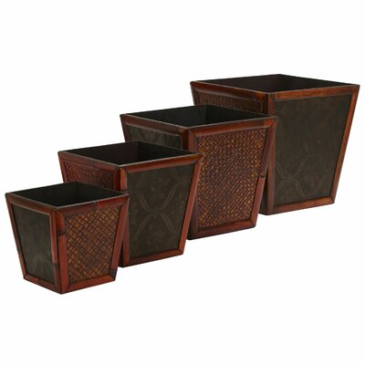 Square Decorative Planters (Set of 4)