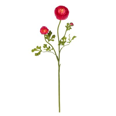 "Nearly Natural 23"" Ranunculus Stem in Beauty (Set of 12)"