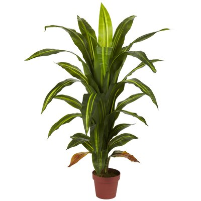 Nearly Natural Dracaena Silk Floor Plant in Pot