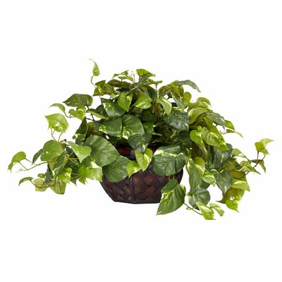 Nearly Natural Pothos with Decorative Vase Silk Plant