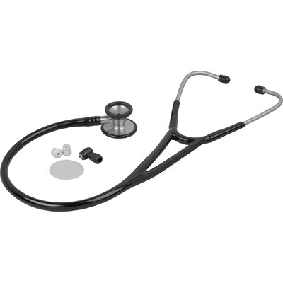 Pinnacle Series Stainless Steel Cardiology Stethoscope in Black