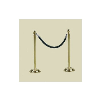 Bass Brass Classic Post with Velour Rope