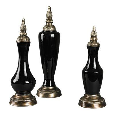 3 Piece Finial Decorative Urn Set