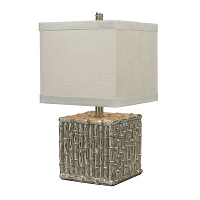 """Sterling Industries 22"""" H Silver Bamboo Table Lamp"""