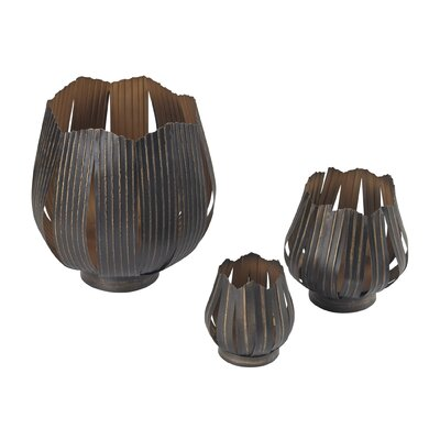 3 Piece Demsey Abstract Bowl Set