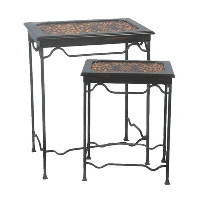 Sterling Industries Leopard 2 Piece Nesting Tables