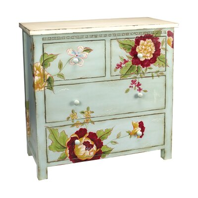 Sterling Industries Flora and Fauna 4 Drawer Chest