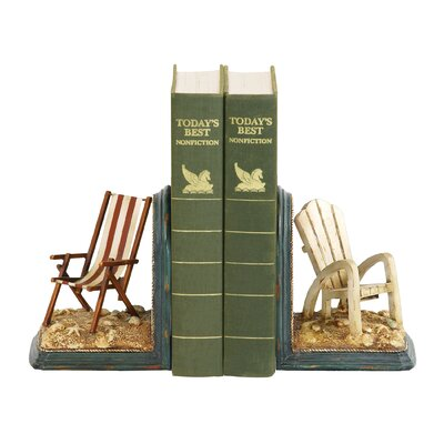 Sterling Industries Beach Chair Bookends (Set of 2)