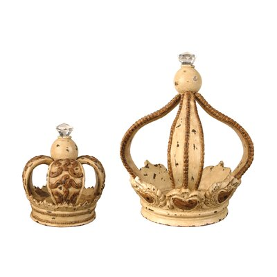 Sterling Industries 2 Piece Monarch's Crown Figurine