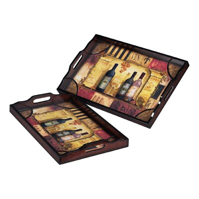 Sterling Industries Rectangular Serving Tray (Set of 2)