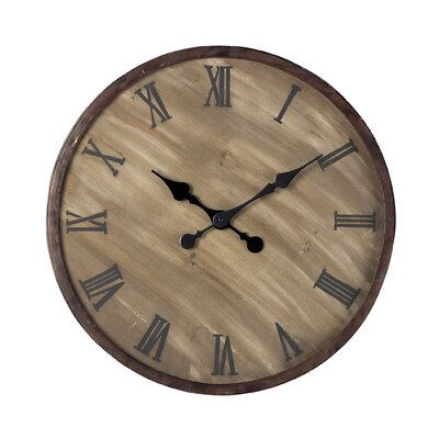 Sterling Industries Wooden  Roman Numeral Wall Clock
