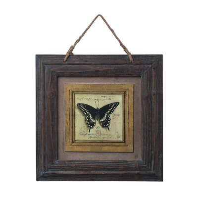 Sterling Industries Picture Frame with Butterfly Print