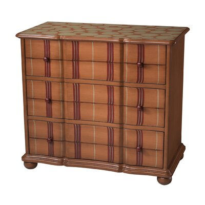Sterling Industries Tangerine Stripe 3 Drawer Chest