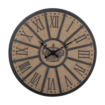 Sterling Industries Metal Crown Faced Clock