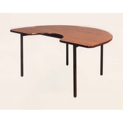 Ironwood Kidney Shaped Tapered Leg Table