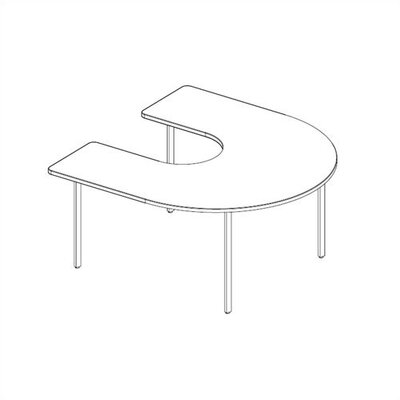 Ironwood Horseshoe Welded Frame Table