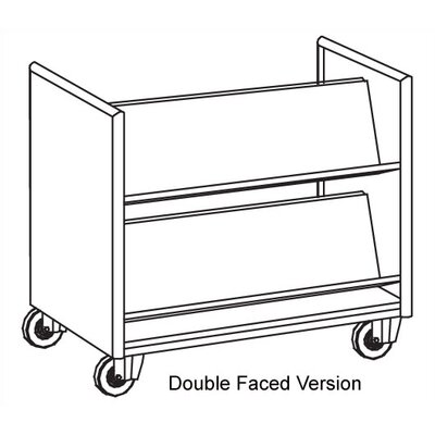Ironwood Vision Series Double Faced Book Truck