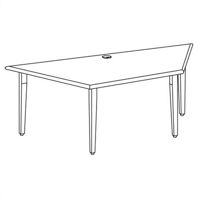 Ironwood Vision Series 3 Place Trapezoid Computer Table