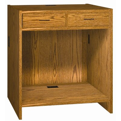 "Ironwood Two Drawer Unit 32.25""-39.75"" H x 36"" W Extension Desk Return"